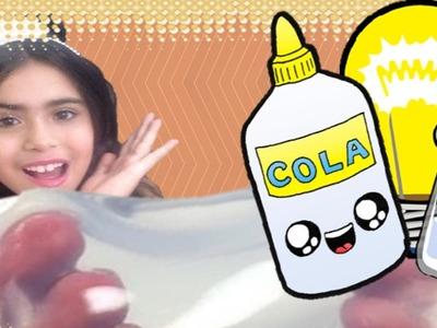 DIY: AMOEBA COM SAL e COLA como fazer! DIY Slime Salt