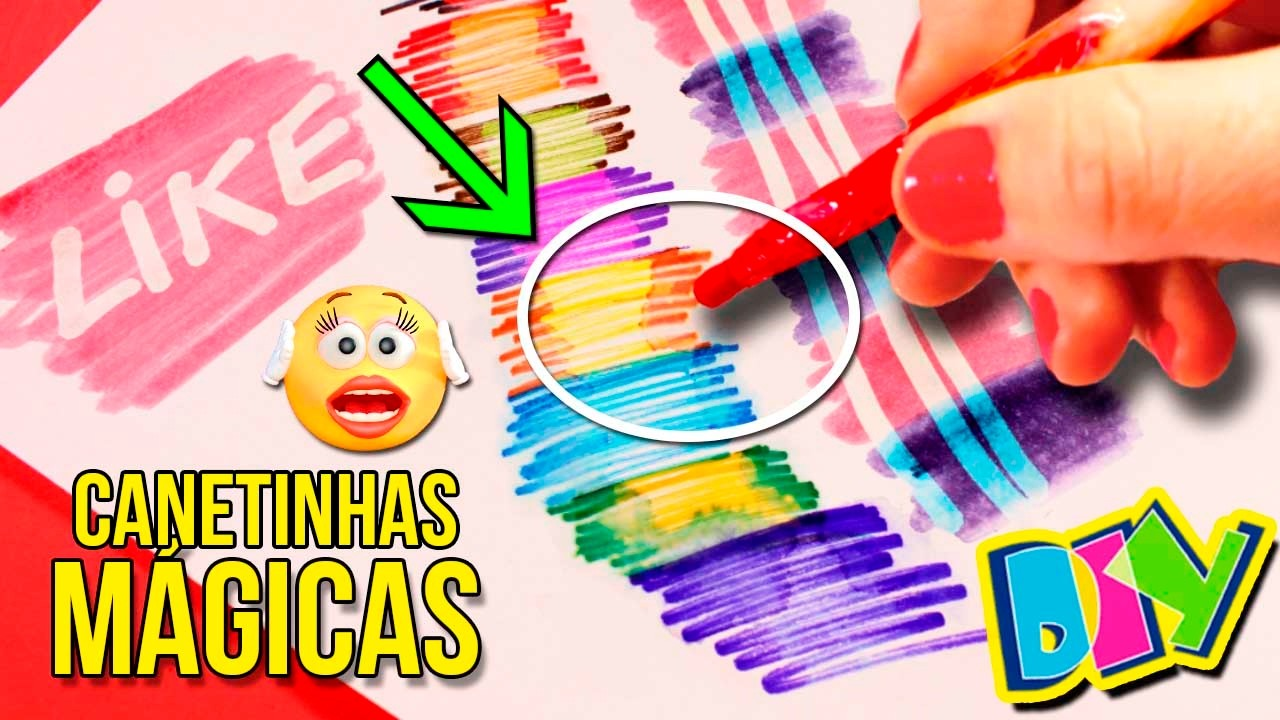 DIY CANETINHAS MÁGICAS * Aprenda a Fazer CANETINHAS MÁGICAS em casa!!