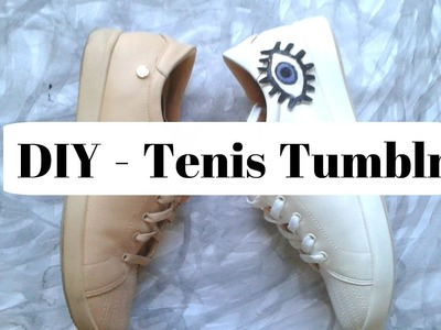 DIY : Como customizar Tênis com spray ! Tênis estilo Tumblr