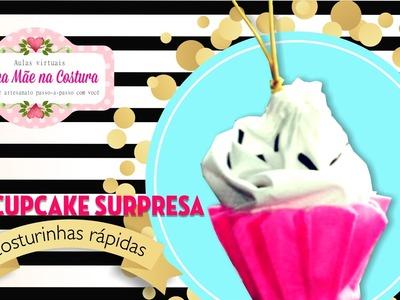 DIY Cupcake Surpresa  | costurinhas rápidas | Minha Mãe na Costura