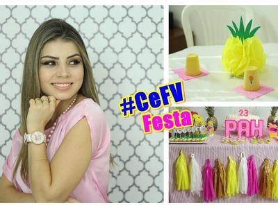 DIY DECORAÇÃO DE FESTAS: Bandeira fitinhas + centro de mesa |Paloma Soares