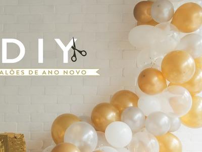 DIY Especial de Ano Novo: arranjo de balões   WESTWING