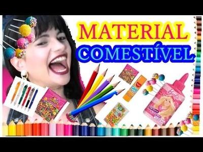 DIY MATERIAL ESCOLAR COMESTÍVEL | DIY EDIBLE SCHOOL SUPPLIES
