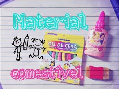 DIY: MATERIAL ESCOLAR COMESTÍVEL - EDIBLE SCHOOL SUPPLIES