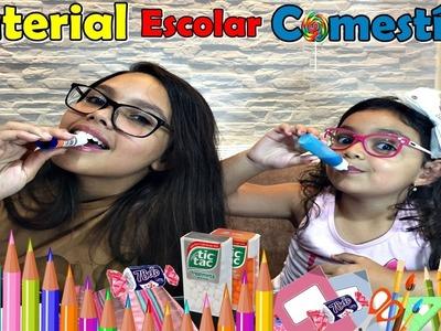 DIY MATERIAL ESCOLAR COMESTÍVEL - DIY EDIBLE SCHOOL SUPPLIES