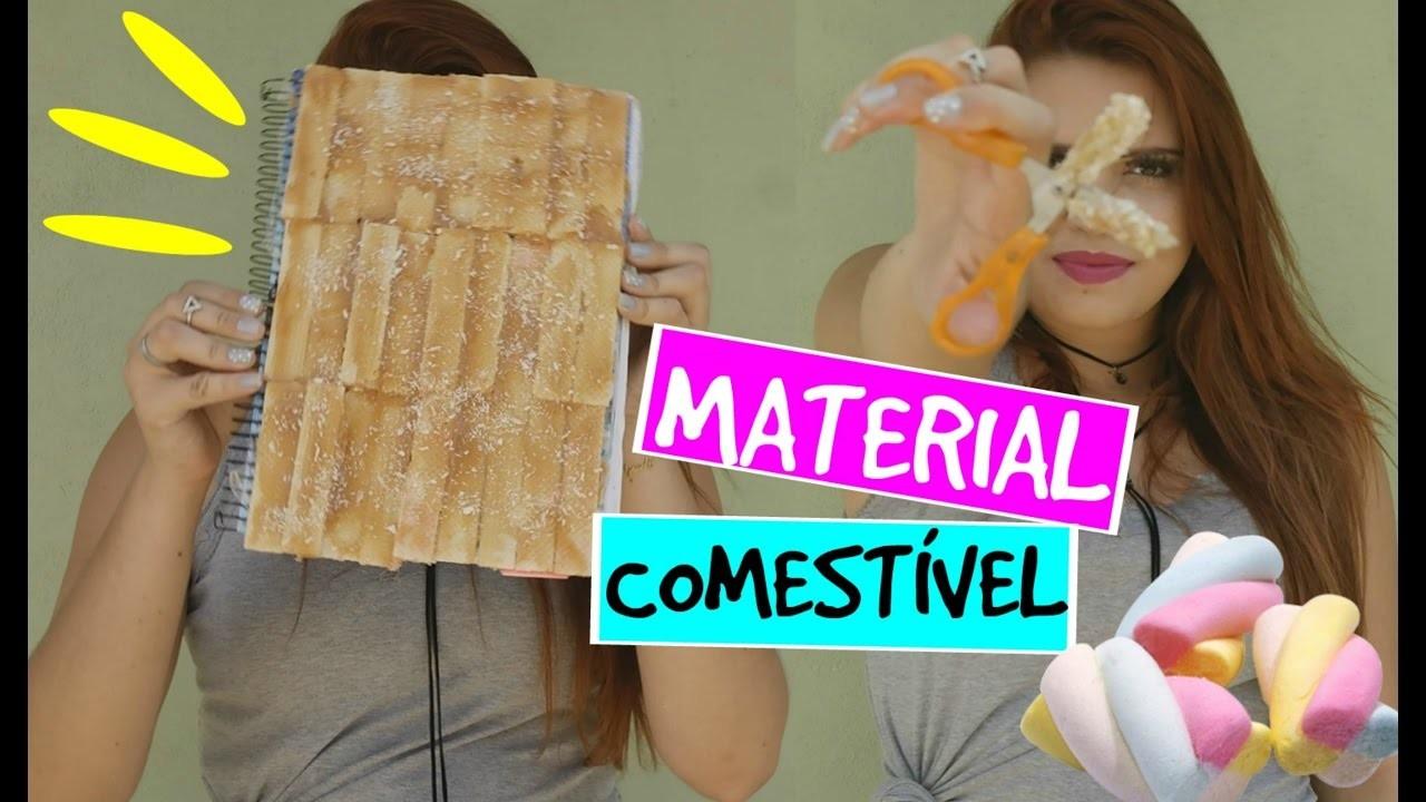DIY MATERIAL ESCOLAR COMESTÍVEL   DIY EDIBLE SCHOOL SUPPLIES #3