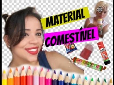DIY MATERIAL ESCOLAR COMESTÍVEL. DIY Edible school supplies