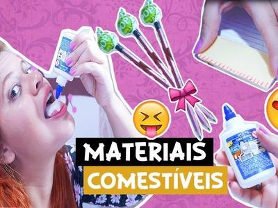 DIY:  MATERIAL ESCOLAR COMESTÍVEL | DIY EDIBLE SCHOOL SUPPLIES | Juuh Benício