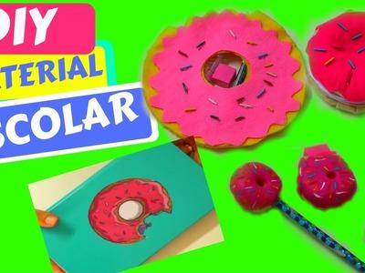 5 DIY MATERIAL ESCOLAR | 5 DIY SCHOOL SUPPLIES |  ESTOJO DONUTS , BLOQUINHO, LÁPIS | SILMARA GUIMAR