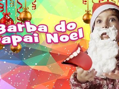 Barba do Papai Noel Comestível (DIY, Como Fazer, Trollagem) com Sarinha