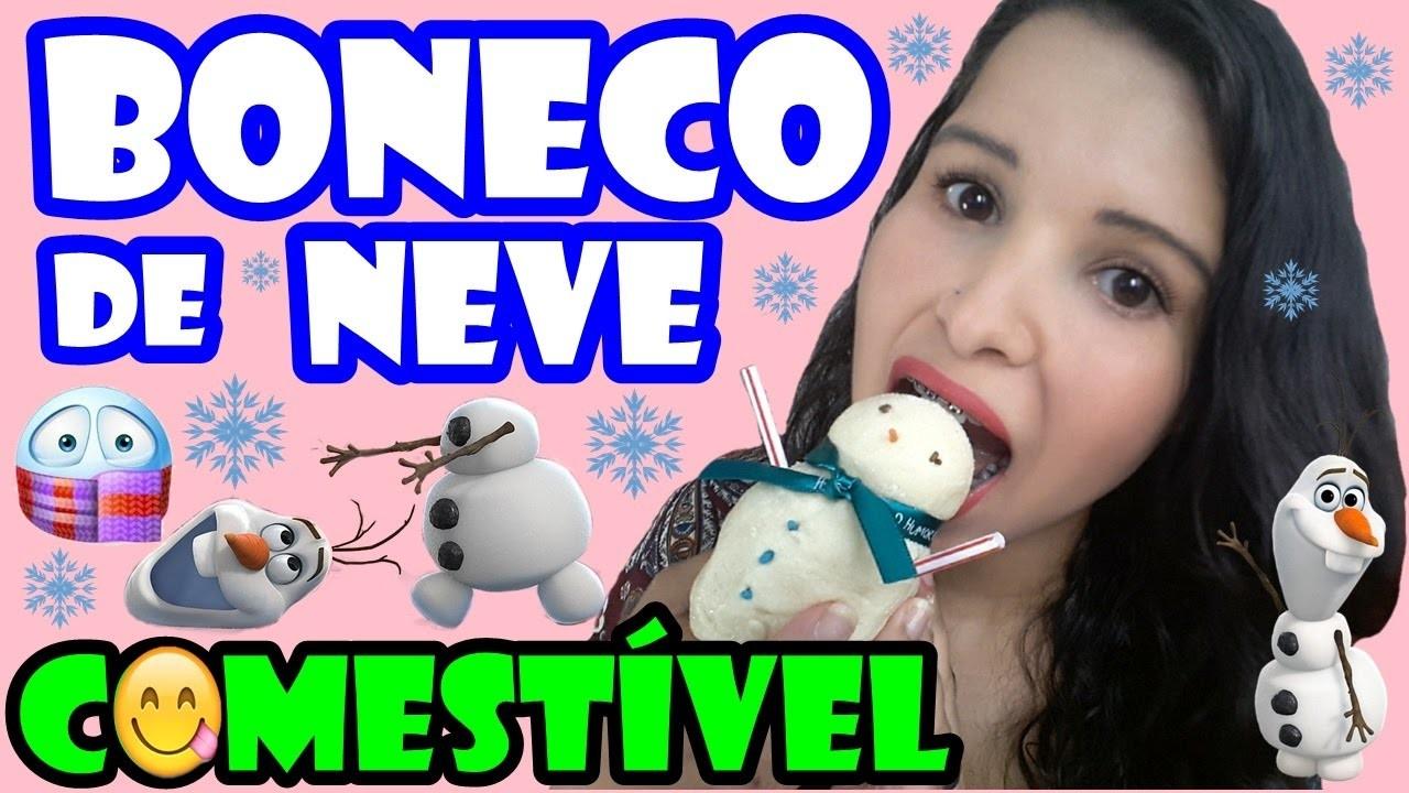 DIY BONECO DE NEVE COMESTÍVEL |  DIY SNOW STUFFED EDIBLE ( FÁCIL) #TUDOCOMESTIVEL | NATALIE SILVA