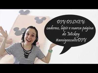 DIY Disney caderno, lápis e marca página #amigoocultodiy
