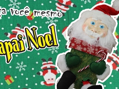 DIY; Faça você mesmo! Caixa Papai Noel