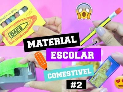 DIY MATERIAL ESCOLAR COMESTÍVEL | DIY EDIBLE SCHOOL SUPPLIES #2