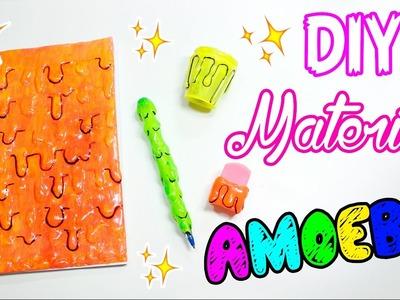 DIY - PERSONALIZE SEU MATERIAL - EFEITO AMOEBA - BACK TO SCHOOL 2017 #5 - por Prih Gomes