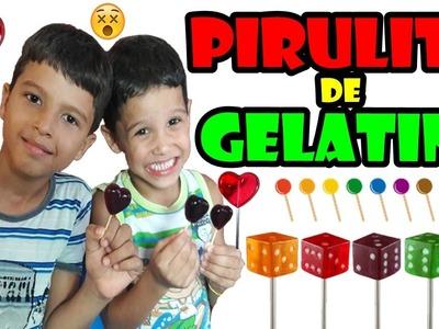 DIY PIRULITO DE GELATINA | DIY GELATINE PIRULITO