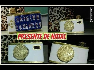 DIY:Presente de natal,Câmera de chocolate (natal,aniversário, amigo secreto etc.)| Por:Mundo da Ste