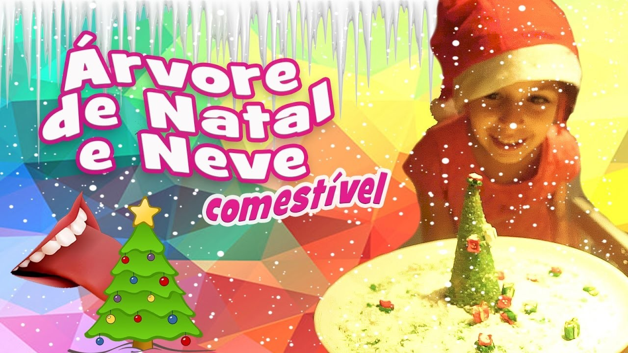 Neve e Árvore de Natal Comestível (DIY, Como Fazer) com Sarinha