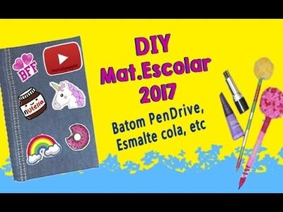 Volta as aulas 2017 Material Escolar 2017 DIY Tumblr girl Patches DIY Caderno personalizado