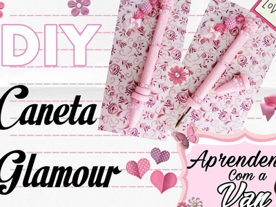 (DIY) Caneta Glamour em Biscuit (Volta as Aulas - Back To School)