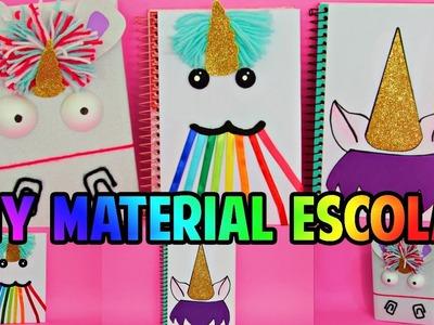 DiY:Material Escolar 2017 de UNICÓRNIO + SORTEIO