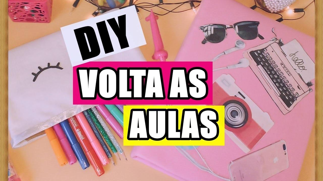 DIY VOLTA AS AULAS : FICHÁRIO, ESTOJO E ETC.