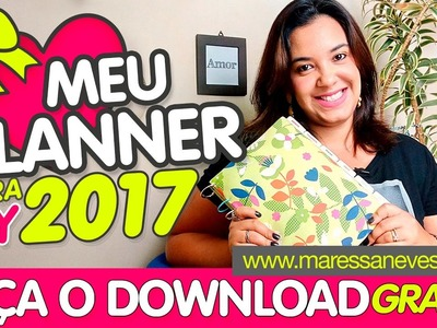 Meu planner para 2017 DIY - Maressa Neves