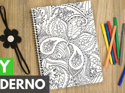Caderno customizado (Para colorir) #PapelEmTudo |DIY - Faça você mesmo