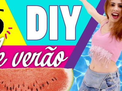 DIY DE VERÃO -  Customizando roupa, acessório e lanchinho #ProjetoYUS