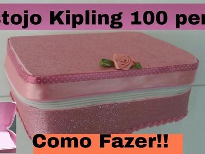 Diy: Estojo da Kipling 100 pens de E.V.A