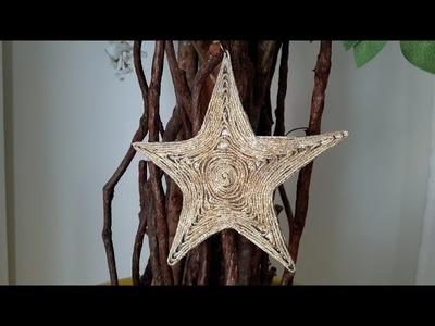 DIY- Estrela natalina  para decorar árvore de natal