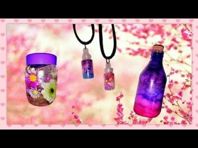 DIY - Galáxia, flores e pingentes fofos