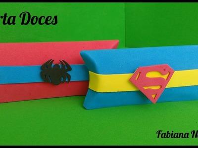 Diy - Lembrancinha Super Heróis. Feita com caixa de Leite. Porta Doces