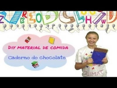 DIY MATERIAL DE COMIDA: Caderno de chocolate