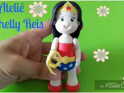 DIY- Mulher Maravilha de Biscuit☆☆☆