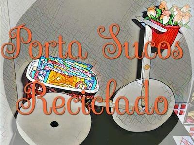DIY - Porta Sucos Reciclado - Faça Você Mesmo - Reciclando pote de Margarina