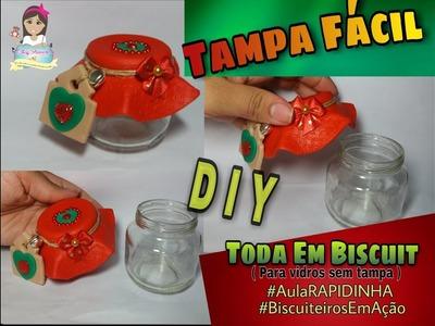 DIY Tampa Fácil (Toda em Biscuit) | #AulaRAPIDINHA  #BiscuiteirosEmAção