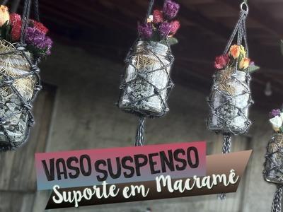DIY Vaso com Suporte em Macramê - Plant Hangers | Aprenda com Edu