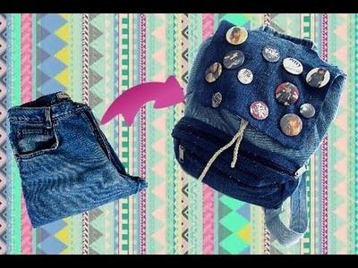 DIY Volta as Aulas: Mochila de Calça Jeans Sem Costura | Wivye