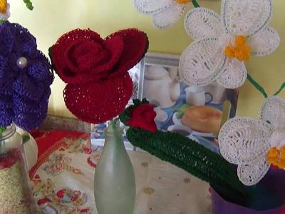 Flor em Croche para Enfeite