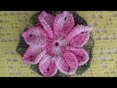 Flor em Crochê  PARA APLICAÇÕES EM TAPETES
