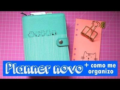 Personalizando o planner novo + como me organizo