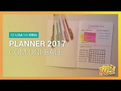 Planner para 2017 com uni-ball