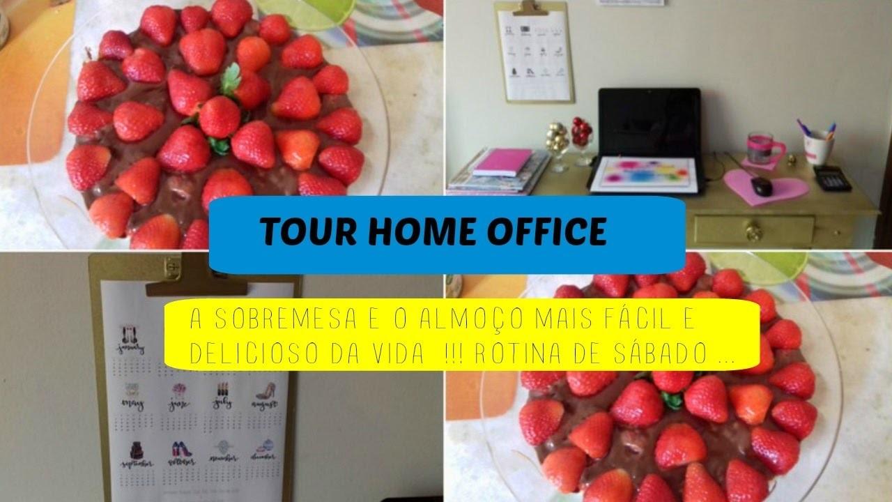 TOUR HOME OFFICE - PLANNER 2017 - ALMOÇO E SOBREMESA SUPER FÁCIL