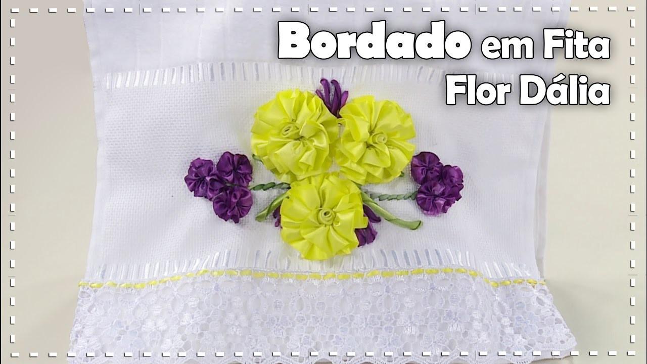 Artesanato Origami Passo A Passo ~ BORDADO FLOR DÁLIA com Zilda Mateus Programa Arte Brasil 18 11 2016
