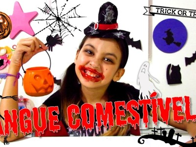 Como fazer Sangue comestível + Decoração fácil #DIY - Especial Halloween