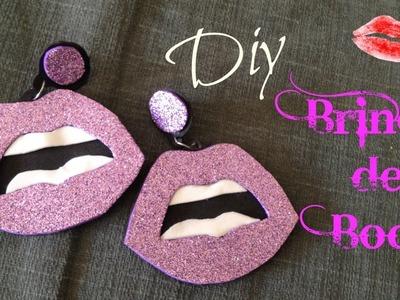 DIY - Brinco boca vermelha por Joyce Pontual