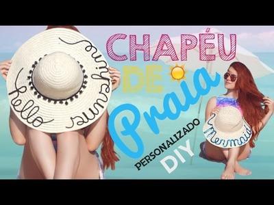 DIY: Chapéu de Praia Personalizado das Blogueiras | Vânia Maciel