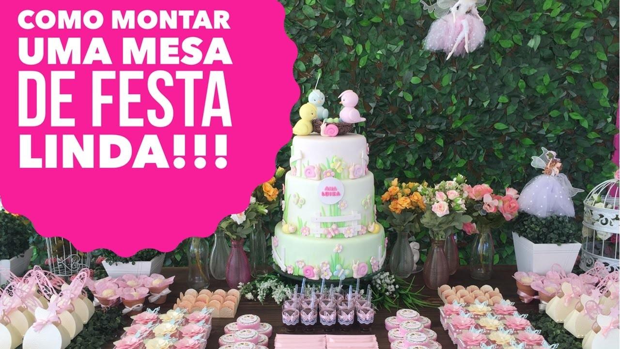 DIY - Como decorar uma festa Jardim das Fadas!!!