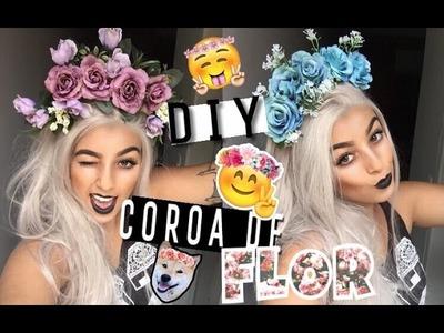 DIY: Como fazer arquinho.coroa (tiara) de flor (estilo Lana Del Rey) - Camila Carregal